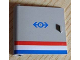 Part No: 3195px1  Name: Door 1 x 5 x 4 Left with Red/White/Blue Stripe and Train Logo Pattern