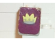 Part No: 3840pb03  Name: Minifigure, Vest with Crown on Dark Purple Background Pattern (Stickers) - Set 375-2