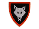 Part No: 3846p44  Name: Minifigure, Shield Triangular with Wolfpack Pattern