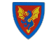 Part No: 3846px10  Name: Minifigure, Shield Triangular with Blue and Yellow Dragon Pattern