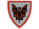 Part No: 3846px7  Name: Minifigure, Shield Triangular with Black Bat on Silver Background Pattern