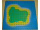 Part No: 3867p01  Name: Baseplate 16 x 16 with Island on Blue Water Pattern