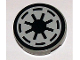 Part No: 4150pb002a  Name: Tile, Round 2 x 2 with SW Republic Pattern on Light Gray Background (Sticker) - Set 4482