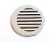 Part No: 4150pb015  Name: Tile, Round 2 x 2 with Black Stripes on Light Gray Background Pattern (Sticker) - Set 5542
