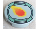 Part No: 4150px3  Name: Tile, Round 2 x 2 with Flame and Sand Green Border Pattern