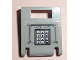 Part No: 4346pb23  Name: Container, Box 2 x 2 x 2 Door with Slot and Keypad and Gray and Blue Buttons Pattern (Sticker) - Set 7033