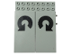 Part No: 4707pb05  Name: Electric, Train 12V Remote Control 8 x 10 with 2 Circled Arrows Pattern