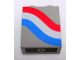 Part No: 4864apx10  Name: Panel 1 x 2 x 2 - Solid Studs with Curved Red, White and Blue Stripes Pattern Left