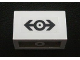 Part No: 4865pb032  Name: Panel 1 x 2 x 1 with Train Logo Black Pattern on Outside (Sticker) - Set 4555