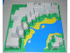 Part No: 6024px2  Name: Baseplate, Raised 32 x 32 Canyon with Blue and Yellow Stream Pattern