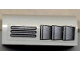 Part No: 6081pb006L  Name: Brick, Modified 2 x 4 x 1 1/3 with Curved Top with Grille Pattern Left (Sticker) - Santa Fe