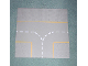 Part No: 608p03  Name: Baseplate, Road 32 x 32 9-Stud T Intersection with Yellow Lines Pattern