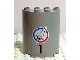 Part No: 6259pb005  Name: Cylinder Half 2 x 4 x 4 with '1' and Shuttle Pattern (Sticker) - Set 6339
