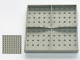 Part No: 733eX  Name: Brick 10 x 10 without Bottom Tubes, with '+' Cross Support (early Baseplate)