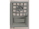 Part No: 73436c01pb02  Name: Door 1 x 4 x 5 Left with Trans-Clear Glass and Open Sign & 16 Small Panes Pattern (Sticker) - Set 6765