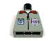 Part No: 973pb0040  Name: Torso Rescue Coast Guard Logo, ID Badge, Red Collar, Zipper Pattern
