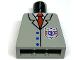 Part No: 973pb0041  Name: Torso Rescue Coast Guard Logo, Red Tie, Suit Buttons Pattern