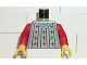 Part No: 973pb0066c01  Name: Torso Castle Fright Knights Fleur de Lis Pattern / Red Arms / Yellow Hands