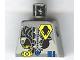 Part No: 973pb0077  Name: Torso Space UFO Yellow Insignia & 3 Blue Bars Pattern