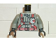 Part No: 973pb0252c01  Name: Torso Fire Shirt with Gauge and Red Belt Pattern / Light Gray Arms / Black Hands