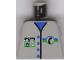 Part No: 973pb0269  Name: Torso Telephone Logo, 4 Blue Buttons Pattern