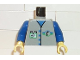 Part No: 973pb0269c01  Name: Torso Telephone Logo, 4 Blue Buttons Pattern / Blue Arms / Yellow Hands