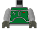 Part No: 973pb0282c01  Name: Torso SW Armor Plates Green Pattern (Boba Fett) / Light Gray Arms / Dark Gray Hands