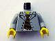 Part No: 973pb0291c01  Name: Torso Spider-Man Suit with Checkered Shirt and Striped Tie Pattern / Light Gray Arms / Yellow Hands