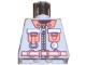 Part No: 973pb0339  Name: Torso Fire Shirt with 2 Orange Pockets, Small Gauge and Orange Belt Pattern