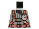 Part No: 973pb0340  Name: Torso Fire Shirt with Gauge and Orange Belt Pattern
