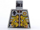 Part No: 973px132  Name: Torso Space UFO Silver and Gold Circuitry Pattern