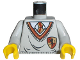 Part No: 973px146c01  Name: Torso Harry Potter Uniform Gryffindor Shield Pattern / Light Gray Arms / Yellow Hands