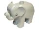Part No: elephc01pb01  Name: Duplo Elephant Baby Standing, Round Eye Pattern