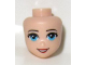 Part No: 16548  Name: Mini Doll, Head Friends with Medium Azure Eyes, Red Lips and Open Mouth Pattern