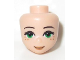 Part No: 20035  Name: Mini Doll, Head Friends with Green Eyes, Freckles, Medium Flesh Lips and Closed Mouth Pattern