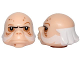 Part No: 24219pb01  Name: Minifigure, Head Modified SW Ugnaught with White Sideburns and Hair Pattern