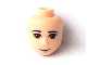 Part No: 25503  Name: Mini Doll, Head Friends Male Large with Tan Eyes, Half Smile and Closed Mouth Pattern