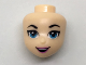Part No: 29441  Name: Mini Doll, Head Friends with Bright Light Blue Eyes and Pink Lips, Open Smile Pattern (Supergirl)