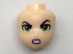 Part No: 29472  Name: Mini Doll, Head Friends with Angry Eyebrows, Lime Eyes, Gritted Teeth Pattern (Lena Luthor)