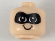 Part No: 33464pb02  Name: Minifigure, Baby / Toddler Head with Neck, Black Eyes, White Pupils, Black Mask and Smile Pattern