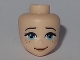 Part No: 33918  Name: Mini Doll, Head Friends with Medium Azure Eyes, Freckles, Dark Tan Lips and Slightly Crooked Smile Pattern
