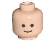 Part No: 3626bp01  Name: Minifigure, Head Standard Grin Pattern - Blocked Open Stud