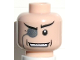 Part No: 3626bpb0028  Name: Minifigure, Head Glasses with Monocle, White Pupil, Wide Grin Pattern (The Penguin) - Blocked Open Stud