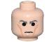 Part No: 3626bpb0037  Name: Minifigure, Head Male Cheek Lines with Dark Bluish Gray Stern Eyebrows Pattern (SW Grand Moff Tarkin) - Blocked Open Stud