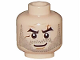 Part No: 3626bpb0077  Name: Minifigure, Head Beard Stubble, Arched Eyebrows, White Pupils and Scars Pattern - Blocked Open Stud