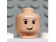 Part No: 3626bpb0206  Name: Minifigure, Head Male Eyebrows, White Pupils, and Toothed Grin Pattern (HP Neville) - Blocked Open Stud