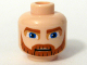 Part No: 3626bpb0316  Name: Minifigure, Head Beard Dark Orange, Eyebrows and Moustache and Large Blue Eyes Pattern (SW Clone Wars Obi-Wan Kenobi) - Blocked Open Stud