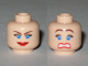 Part No: 3626bpb0383  Name: Minifigure, Head Dual Sided Female Blue Eyes, Scared / Smile Closed Mouth Pattern - Blocked Open Stud