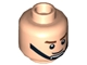 Part No: 3626bpb0804  Name: Minifigure, Head Male Brown Eyebrows, Smile, Black Chin Strap Pattern - Blocked Open Stud