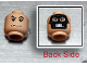 Part No: 3626bpx328  Name: Minifigure, Head Dual Sided HP Death Eater Mask / Black Raised Eyebrows and Grim Mouth Pattern - Blocked Open Stud